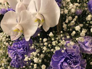 青色の花祭壇
