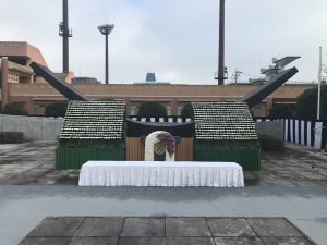 完成した花祭壇